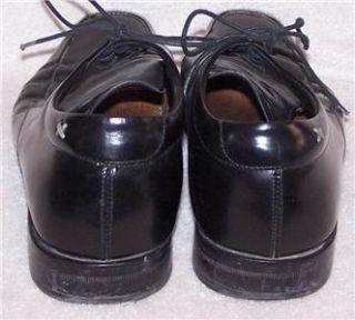 10 5 43 5 Gordon Rush Italian Black Patent Leather Oxford Lace Dress