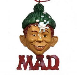 Alfred E Neuman Mad Magazine Christmas Ornament