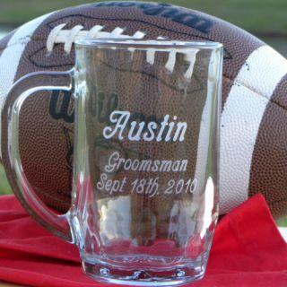 Engraved 20 oz Beer Mugs Personalized Groomsman Gift