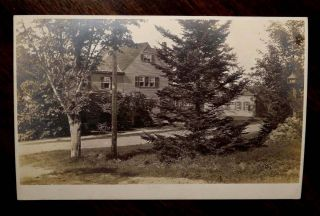 Gilmanton New Hampshire NH Photo Postcard 1914 Residential Street