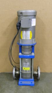 GOULDS PUMPS INLINE WATER PUMP 1SVB1F5E3 1 5HP 360PSI 3450 RPM 208 230