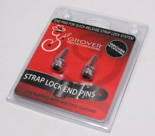 GROVER Strap Buttons / Straplock Pins CHROME Fit GROVER or SCHALLER