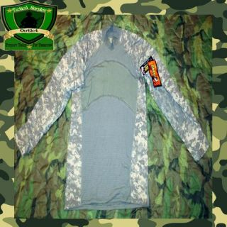 NWT USGI Military ACU Camo Army Flame Resistant Combat Shirt. Hunting