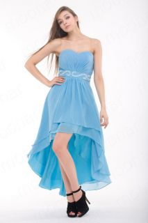 Stock Gowns Bridesmaid Cocktail Party Prom Ball Chiffon Evening