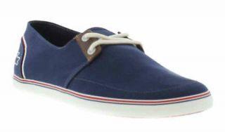 Lacoste Shoes Genuine Bardos AP SRM Canvas Mens Shoes Navy Sizes UK 7