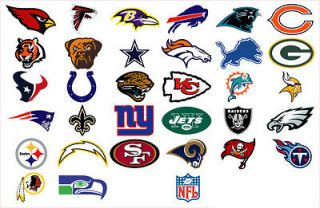 All 32 NFL Team Logo Decals Stickers Skins to choose from   NEW   Pick