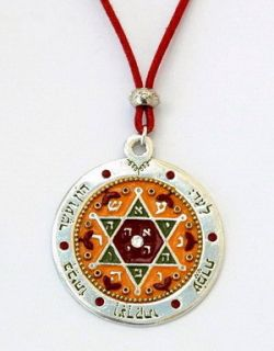 Good Luck Charm Sterling Silver Pendant Judaica Art