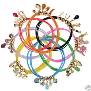Good Luck Charm Bracelet Crystals Gold Wholesale Lot 8