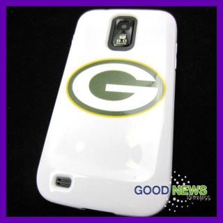 Samsung Galaxy S2 S II T989 Green Bay Packers Rubber Skin Case Cover