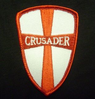 CROSS CRUSADER SHIELD TACTICAL ARMY COMBAT MORALE ISAF MILSPEC RED