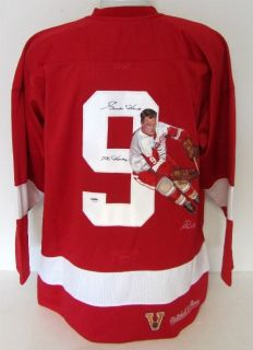 RARE Gordie Howe Signed Painted Red Wings M N Jersey Mr Hockey PSA