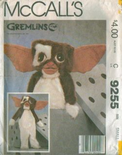 McCalls 9255 Gremlins Gizmo Halloween Costume Sewing Pattern Boy Girl