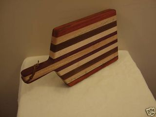 Wooden Cutting Board w Handle Amish Made