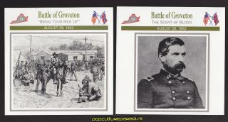 Battle of Groveton Virginia 1862 U s Civil War 2 Cards