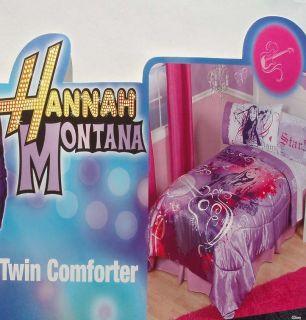 Hannah Montana Rock Dream Twin Comforter Sheets 4pc Bedding Set New