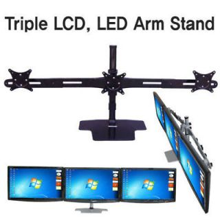 Triple LCD LED Monitor Mounts Arm Stand Bracket Mount 15 17 19 22 24