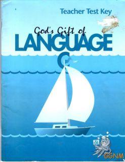Language C A Beka Book 6th Grade Test Key Teacher Grammar 6 English