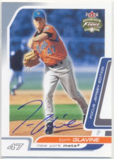 Tom Glavine New York Mets Signed Card Atlanta Braves