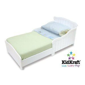Toddler Bed Frame White NEW Cot Wood Childrens Kids Room Durable