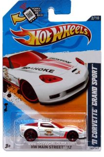 Wheels HW Main Street 162 2011 Chevy Corvette Grand Sport White