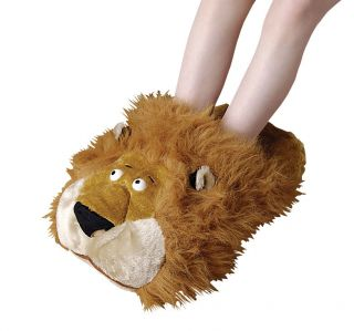 DUNLOP NOVELTY LEO LION MANS LADIES BOYS GIRLS ONE SIZE SLIPPERS