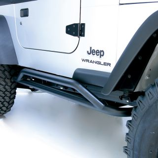 Rugged Ridge Rock Sliders Black 1987 2006 Jeep Wrangler YJ TJ Models