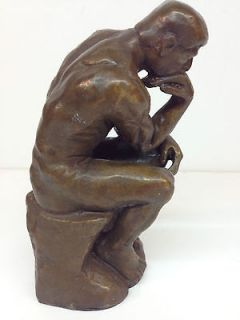 Rodin The Thinker Bronze Le Pens Sculpture By Austin Prod. 5 Tall