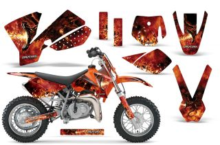 KTM SX50 2002 2008 Graphics Kit Decals Dragonblast