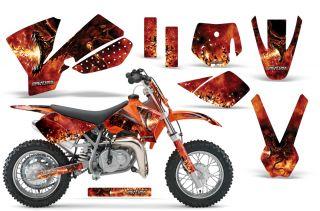 KTM SX50 2002 2008 Graphics Kit Decals Dragonblast