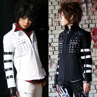 Hardcore Motorcycle Mens Womens Clothes Punk Jacket