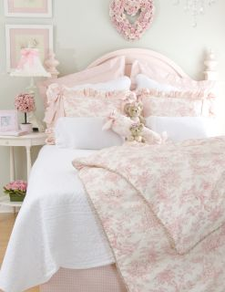 Glenna Jean Isabella Girl Pink Full Bedding Set 4pc