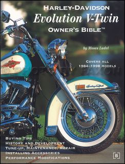 1984 1998 Harley Davidson Evolution Owners Bible Softail Fat Boy