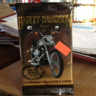 Harley Davidson Collectible Cards One Pack 1993 Series 3