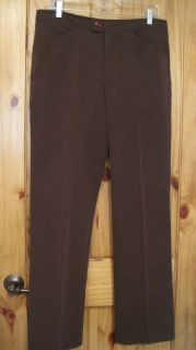 Gloria Vanderbilt Sz 10 Dark Brown Stretch Slacks Pants Trousers