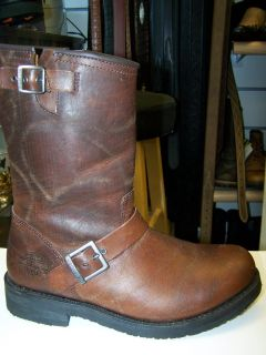New Harley Davidson Style 91327 Kent Brown Leather Motorcycle Boot