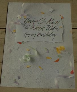 Used Vintage Happy Birthday Co Worker Greeting Card Great Cond