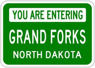 Grand Forks North Dakota You Are Entering Aluminum City Sign