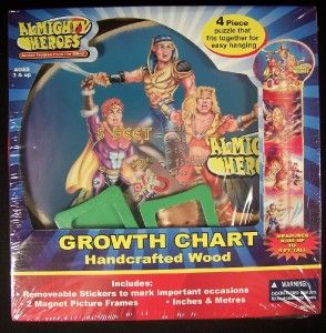 Growth Chart Bible Almighty Heroes Moses David ft Cm