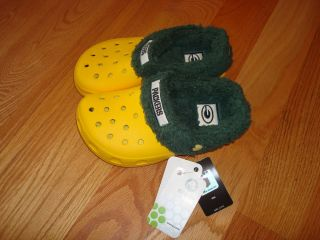 Boys Girls Green Bay Packer Crocs Shoe Boot Sz 1 3 New with Tags