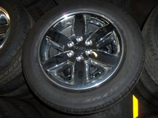 GM OEM GMC SIERRA TAKE OFF WHEELS / TIRES 20 CHROME GOODYEAR TIRES