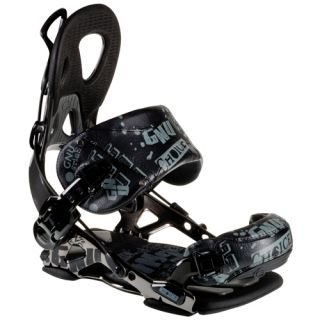 New GNU Choice 2012 Snowboard Bindings Black Size Med Rear Entry Ride