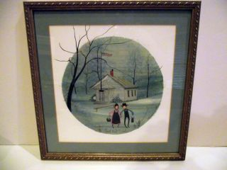 Buckley Moss The Grant Wood School Framed Limited Edition Signed 259