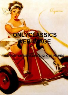 1950s Sexy Pinup Girl Go Kart Legs Nylons Auto Racing Cheesecake