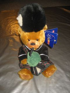 Harrods Teddy Bear Plush Scottish Bagpipes Bears Day Out in London