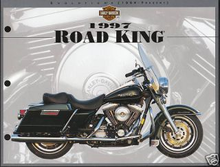 1997 Harley Davidson Road King 8 5 x 11 Print Picture