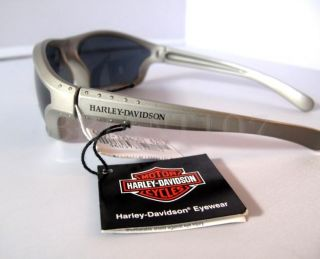 Auth Harley Davidson Sunglasses HDS514 Silver Gray Pouch