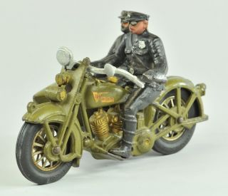 1930s Hubley Harley Davidson Motorcycle with Sidecar