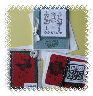 Handmade Greeting Cards Stampin up 2 Thank you cards one Birthday with
