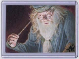 2012 ACEO Sketch Card Albus Dumbledore Harry Potter 1 1