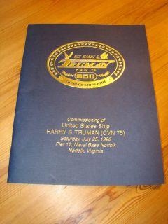 USS Harry s Truman CVN 75 Commissioning Program July 1998